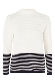 Knitted Colour Block Stripe Jumper