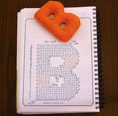 Patrón letra B para tejer a crochet