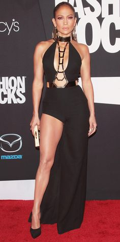 Look of the Day - September 10, 2014 - Jennifer Lopez in Atelier Versace from #InStyle