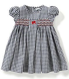Edgehill Collection Baby Girls 324 Months Checked Smocked Dress #Dillards