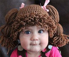 Increase your offspring's cuteness factor tenfold when you dress them up with the Cabbage Patch Kids wig. Available as a sewing pattern or as a finished hat,...