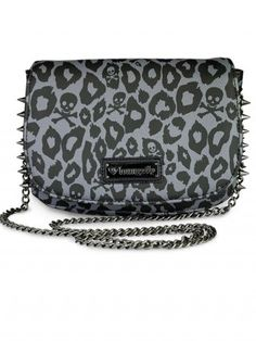 Skull Leopard Spike Crossbody Bag by Loungefly (Black)