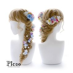 . .  Gallery 411 . Order Made Works Original Hair Accessory for WEDDING . ⭐️結婚式髪飾り⭐️ . ペールトーンのブルーが印象的なドレスに合わせたカラーセレクトで、ラプンツェル風にアレンジ✨ ポップなカラーローズをメインに、パールと小花とかすみ草を流れるように散りばめました . . #Picco  #オーダーメイド  #髪飾り #カラードレス #結婚式 . . #ローズ #ラプンツェル #ドレス #可愛い #ウェディングヘア . デザイナー @mkmk1109 . . NEWS 新作アップしました‼️. 詳しくはホームページまで . #ヘアアクセサリー #ヘッドアクセサリー #ヘッドドレス #花飾り #造花 #ブライダル #結婚式ヘア #ウェディングドレス #ウェディングフォト #前撮り #flower #follow #hair #hairstyle #dress #YOLO #accessorize #pink #princess #rapunzel