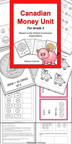 "This Money unit for 2nd grade is full of lesson ideas, worksheets, tests, an ""I Have, Who Has Money Game"", coin posters, and several pages of coins to use as currency in your classroom store!"