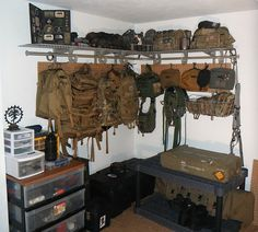 Now here's a family with a plan!: I need to set up a place like this for my gear.
