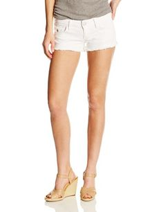 True Religion 7 Inch Rise Women's Joey Cut-Off Short In Optic White, Optic White, 30 Coral Skirt, Spring Shorts, White Denim Shorts, Cut Off, True Religion, Fashion Outfits, Womens Fashion, Stretch Denim, Clothes For Women