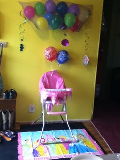 Little mermaid 1st birthday high chair