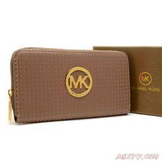 MK2439 Michael Kors Perforated Logo Large MARRON Wallet