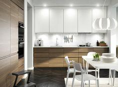 METOD keuken | #IKEA #IKEAnl #minimalistisch #modern #hout #keukensysteem #inspiratie