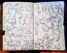 Cooldown sketches for tonight. One page bunnies, one page pinterest studies. Hope you all had a good night. Lets start this week off with a smile and lots of good vibes shall we? :) i will also do my darndest to make a video this week. Been feeling  very down lately and its actually affected that part of my work. Goodnight everyone. ^_^ #rodgontheartist #doodles #sketches #drawings #sketch #art #sketching #cartoon #design #drawing #artwork #sketchbook #illustrator #illustration #girl #pinup…