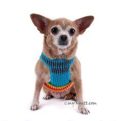 Arco iris perro arnés chaleco Velcro Choke Puppy gratis por myknitt