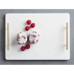 Impress guests with the stunning Maxwell & Williams Mezze Marble Tray Gold Handle Gift Boxed