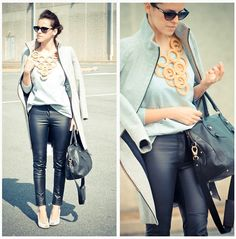 love this leather pants. it goes well with every shirt