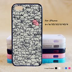 Cute Pink Elephant Phone Case For iPhone 6 Plus For iPhone 6 For iPhone 5/5S For iPhone 4/4S For iPhone 5C-5 Colors Available