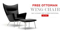 Free Ottoman with Wing Chair / Oculus Chair Purchase