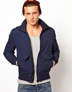 Image 1 of ASOS Funnel Bomber Jacket