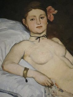 Manet - Olympia, detail head