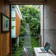"5,658 Likes, 28 Comments - designboom magazine (@designboom) on Instagram: ""SPBR arquitectos's #timber-clad casa em ubatuba II is nestled amidst the luscious green #brazilian…"""