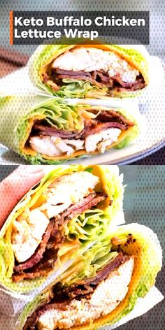 This easy Keto Buffalo Chicken Lettuce Wrap is loaded with sharp cheddar cheese, crispy bacon, grilled chicken and a heavy dose of tangy buffalo sauce! Less than three net carbs per wrap! and Drink meals Keto Buffalo Chicken Lettuce Wrap Ketogenic Recipes, Low Carb Recipes, Diet Recipes, Cooking Recipes, Healthy Recipes, Cheap Recipes, Lunch Recipes, Keto Recipes With Bacon, Healthy Chinese Recipes
