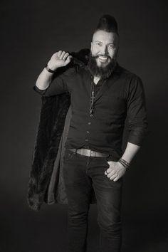Partaruhtinas, Photo by Maria Kimalle #malemodel #beard #blackandwhite