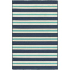 Breakwater Bay Palmdale Blue/Ivory Indoor/Outdoor Area Rug