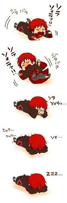 Akatsuki, Sasori, cute, chibi, funny, comic, text; Naruto