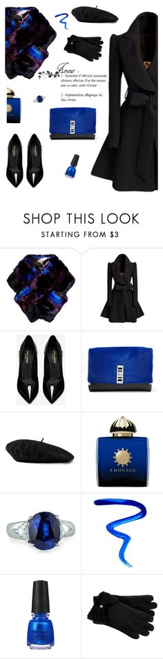 """Fou d'Amour"" by molly2222 ❤ liked on Polyvore featuring Ted Baker, Yves Saint Laurent, Proenza Schouler, Gucci, AMOUAGE, Fantasia by DeSerio, Givenchy, China Glaze, UGG and bow"
