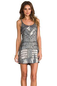 Parker Embellished Hayden Combo Dress in Gunmetal from REVOLVEclothing