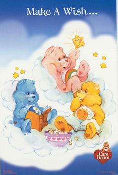 A great poster for kids! The Care Bears want you to Make A Wish so they can make it come true! Published in 2003. Fully licensed. Ships fast. 22x34 inches. Need Poster Mounts..? bm7698