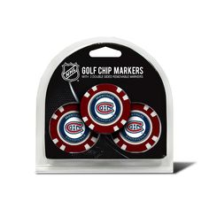 Team Golf Montreal Canadiens 3-pack Poker Chip Ball Markers, Multicolor