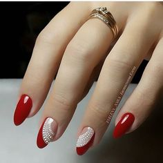 Cute Nail Art Ideas for a Red Manicure Trendy Nail Art, Cute Nail Art, New Nail Designs, Acrylic Nail Designs, Pedicure Designs, Acrylic Nails, Fall Designs, Coffin Nails, Red Nails