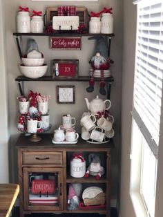 Coffee Bar Ideas - Looking for some coffee bar ideas? Here you'll find home coffee bar, DIY coffee bar, and kitchen coffee station. Coffee Nook, Coffee Bar Home, Coffee Corner, Coffee Bars, Coffee Bar Station, Home Coffee Stations, Tea Station, Farmhouse Christmas Decor, Christmas Kitchen
