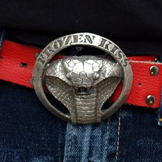Hand made Cobra belt buckle in pewter by FrozenKiss on Etsy