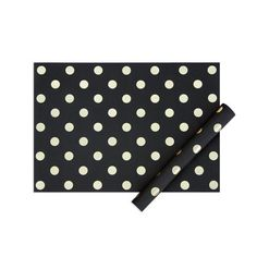 My minds eye paper goods SHEET OF WRAP-Black with gold dots
