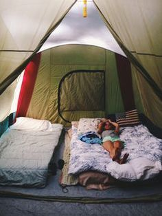 tent living. I'm buying a blow up mattress and living out of a tent forever. This looks perfect to me.