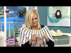 """Derya Baykal - Deryanın Dünyası - """"Omuz üşütmez yapımı"""" - 01.04.2015 - YouTube Crochet Videos, Crochet Shawl, Stitch, Knitting, Pattern, Design, Women, Fashion, Boleros"""