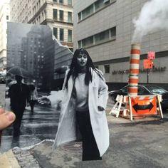 """Con sede en Nueva York, Kalen Hollomon explora el arte del fotomontaje a su manera particular. Para su proyecto """"collage en tiempo real, dando vueltas por la fantástica Nueva york de la ciudad y armado con """"cut-outs"""" de imágenes Hollomon nos sorprende con estas ilusiones visuales in situ. Tanto si son blanco y negro o de color, las fotografías están perfectamente integradas en la Nueva York de hoy. A veces las creaciones de Kalen Hollomon cuestionan nuestra sociedad, las intera..."""