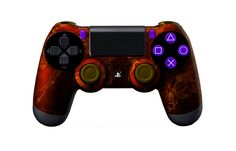 PS4Controller-OrangeZombieHazard   Flickr - Photo Sharing! #PS4controller #PS4 #PlayStation4controller #customcontroller #moddedcontroller #dualshock4