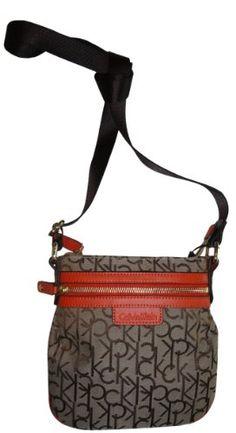 Women's Calvin Klein Purse Handbag Crossbody Brown/Khaki/Orange « Xquisite Beauty