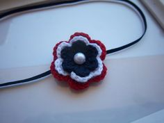 Crochet Red White and Blue 4th of July Baby Headband