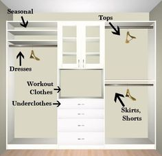 Walk in closet ideas, closet organizer, closet systems, sliding closet doors, closet design ideas, closet storage, closet shelving, bedroom closet ideas, diy closet, baby closet ideas