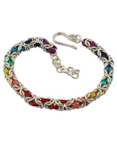 Seven colors chakra bracelet, made in the USA, available at BuddhaGroove.com.