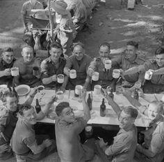 Troops at a Christmas dinner in Burma, 18 December 1944.