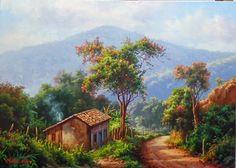 """Trajetoria do ano de 2014 -------------------------------------------------------------- Tulio Dias """" """"Felicidade"""" 50x70-Olé..."""
