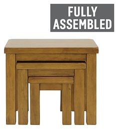 Arizona Nest Of 3 Tables Solid Pine At Argos Co Uk