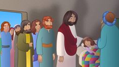 bible story images for kids - Google Search Jairus Daughter, Bible Stories For Kids, Cartoon Gifs, Plays, Bible Verses, Music Videos, Christ, Scenery, Family Guy