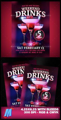 Drinks Flyer Template PSD. Download here: http://graphicriver.net/item/drinks-flyer-template/14577253?ref=ksioks
