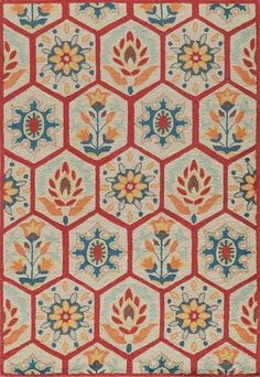 Momeni HAVANHV 08RED7999 Chinese Hand Tufted Collection Red Finish Rugs 79X9