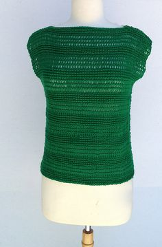 The Laughing Willow. Tunisian crochet Top with tutorial at site