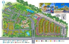 Emerald Desert RV Resort Site Map